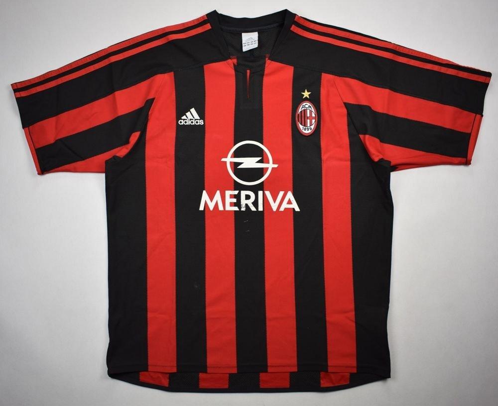 fdaf01dc7 2003-04 ac milan shirt l football   soccer european clubs
