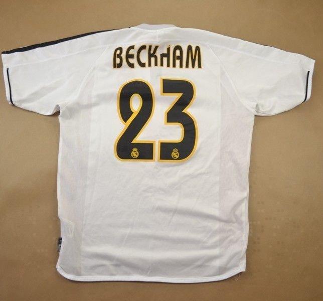 147bea17f 2003-04 REAL MADRID  BECKHAM  SHIRT XL. BOYS Football   Soccer   European  Clubs   Spanish Clubs   Real Madrid