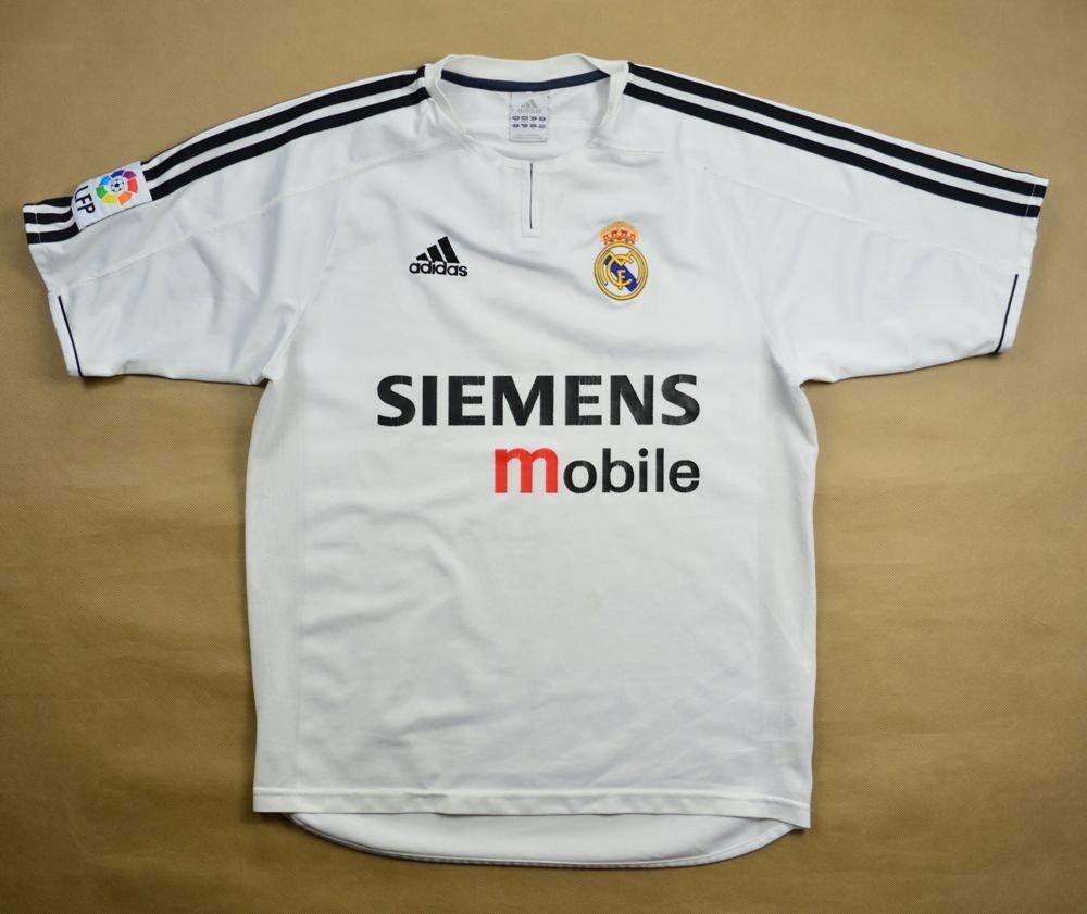 super popular d2917 7de6e 2003-04 REAL MADRID SHIRT S