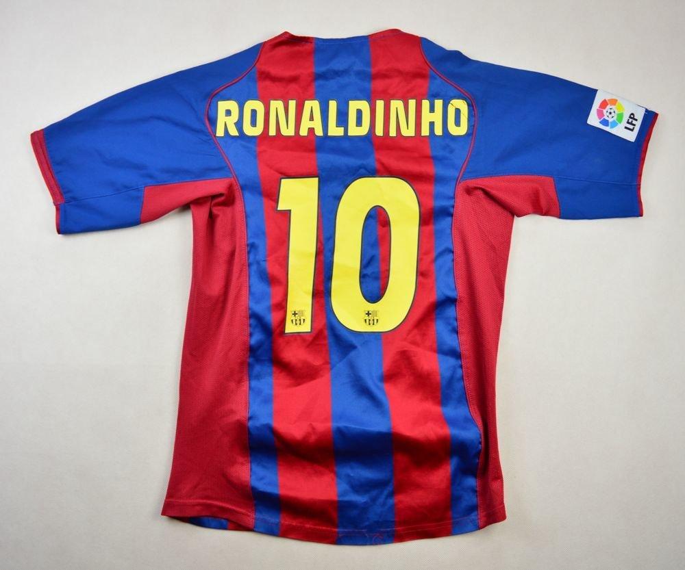 2004-05 FC BARCELONA  RONALDINHO  SHIRT L. BOYS Football   Soccer ... cb35df098
