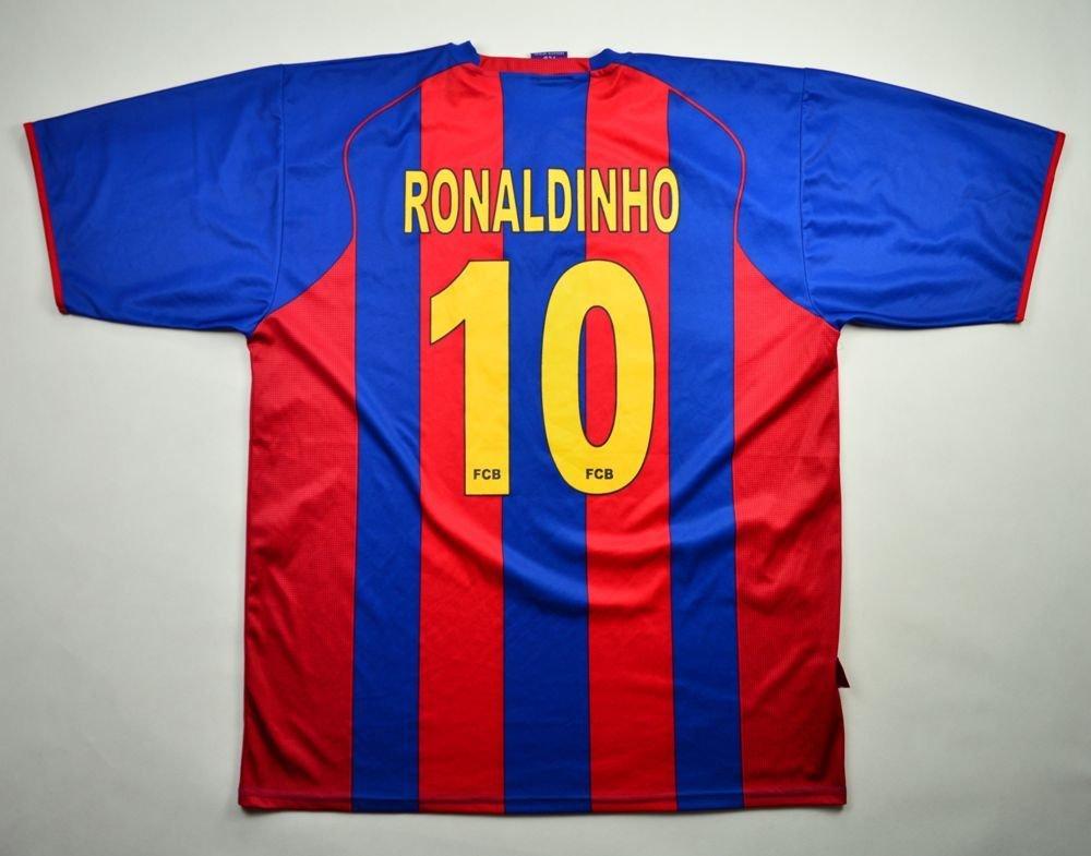 366a08ea2 2004-05 FC BARCELONA  RONALDINHO  SHIRT XXL Football   Soccer   European  Clubs   Spanish Clubs   FC Barcelona