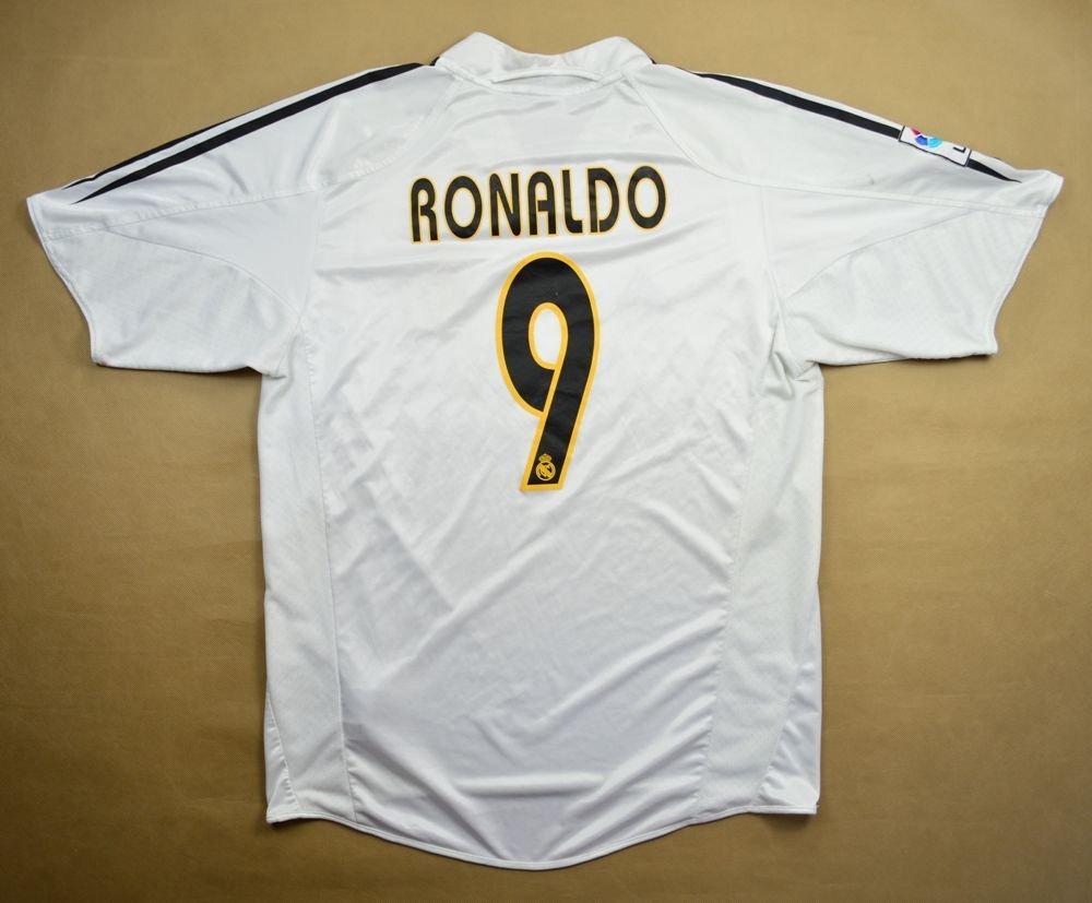 new product b0cdb 1186b 2004-05 REAL MADRID *RONALDO* SHIRT L