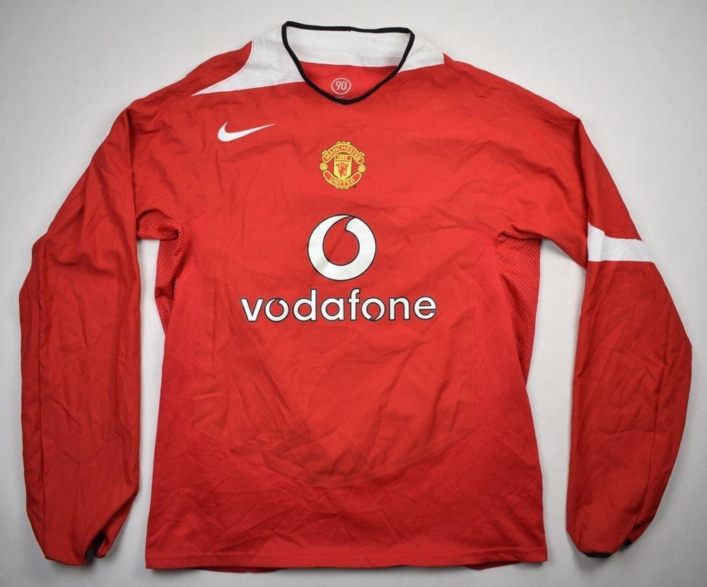 2faafa2aeae 2004-06 MANCHESTER UNITED LONGSLEEVE SHIRT L Football   Soccer   Premier  League   Manchester United