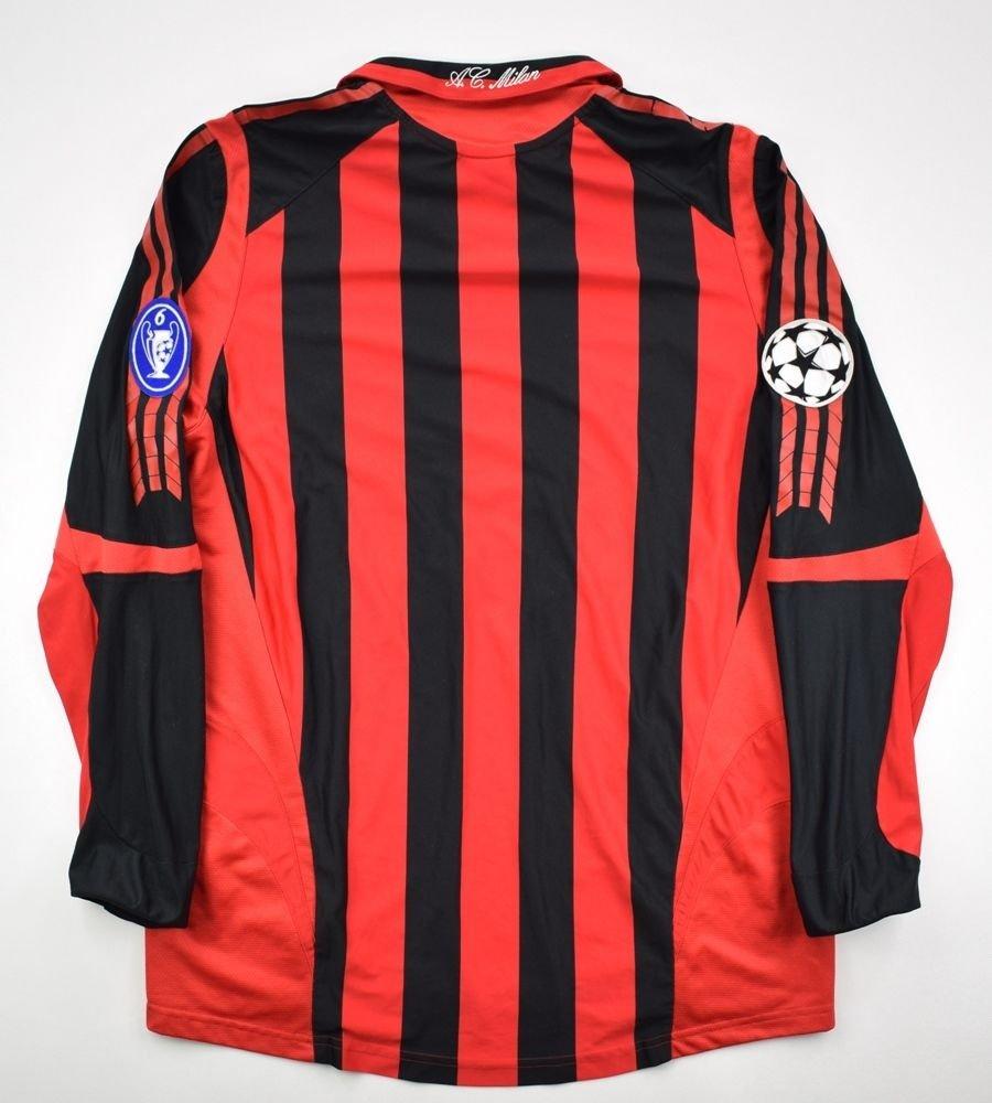 2005-06 AC MILAN LONGSLEEVE SHIRT M Football / Soccer ...