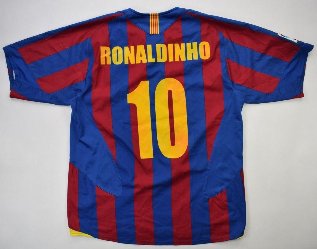 2005-06 FC BARCELONA *RONALDINHO* SHIRT L Football / Soccer \ European  Clubs \ Spanish Clubs \ FC Barcelona