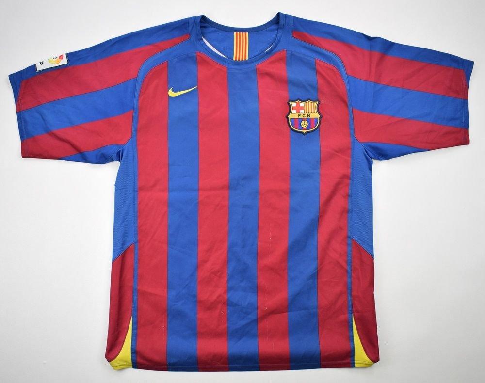 2005-06 FC BARCELONA *RONALDINHO* SHIRT M Football / Soccer \ European  Clubs \ Spanish Clubs \ FC Barcelona