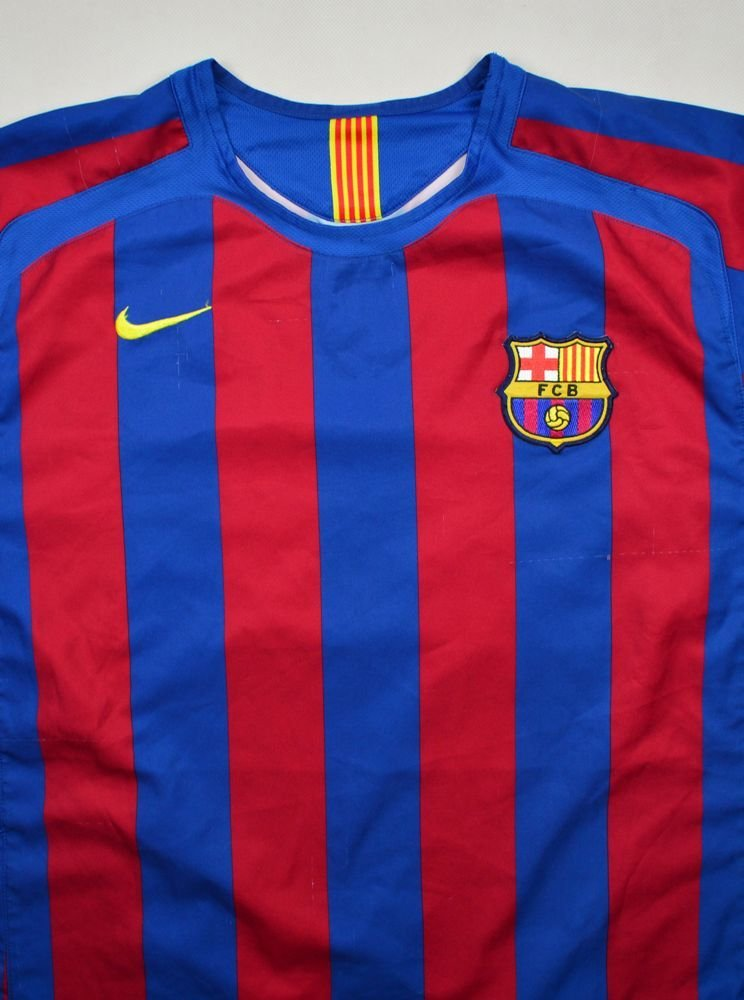 detailed look be8c9 ec3c0 2005-06 FC BARCELONA SHIRT XL