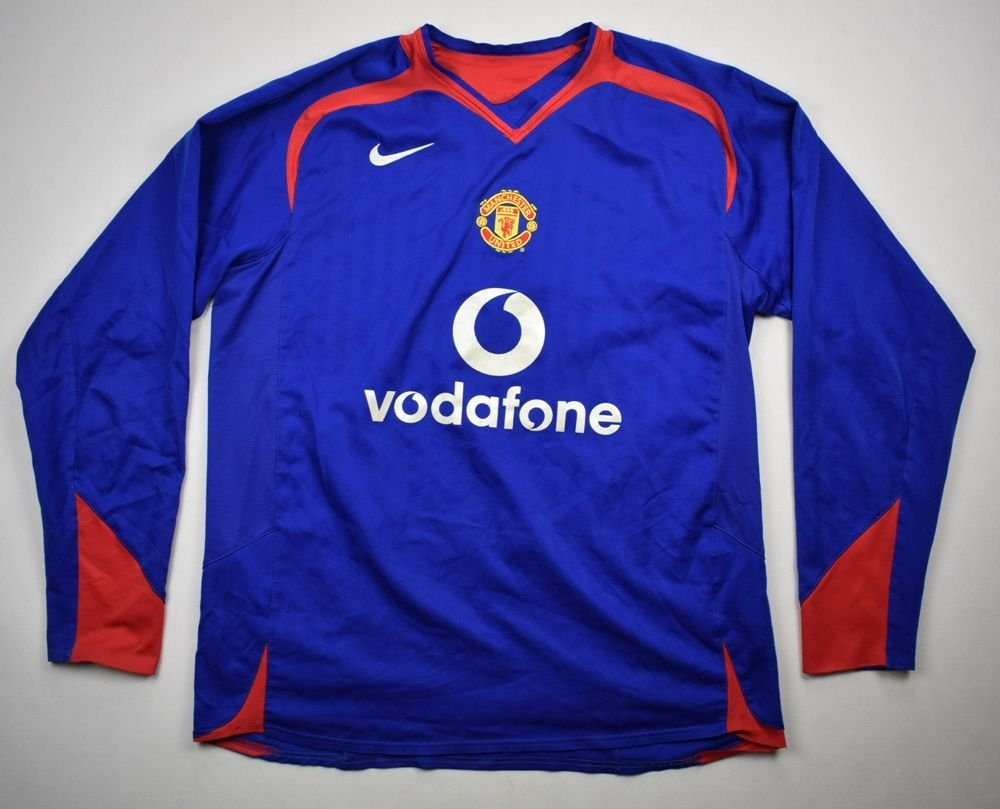 a082d736a 2005-06 MANCHESTER UNITED LONGSLEEVE SHIRT L Football   Soccer   Premier  League   Manchester United