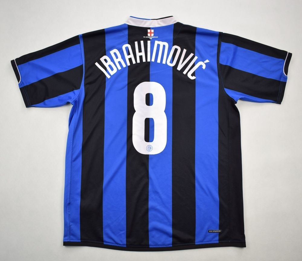 official photos 37379 edba8 2006-07 INTER MILAN *IBRAHIMOVIC* SHIRT XL