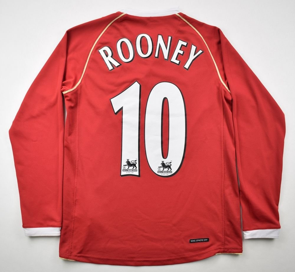 e73edb07e 2006-07 MANCHESTER UNITED  ROONEY  LONGSLEEVE SHIRT M. BOYS Football    Soccer   Premier League   Manchester United