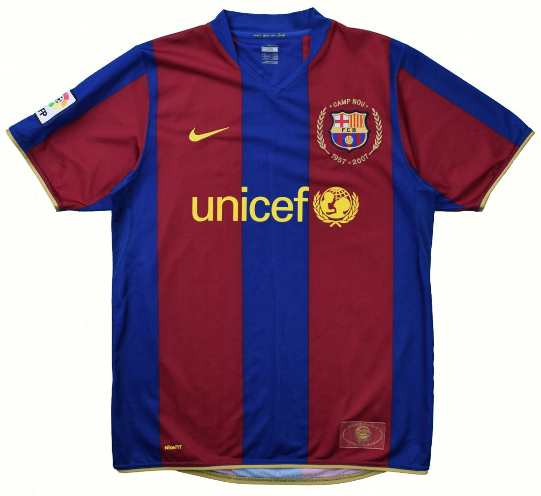 2007 08 Barcelona Shirt L Football Soccer European Clubs Spanish Clubs Fc Barcelona Classic Shirts Com