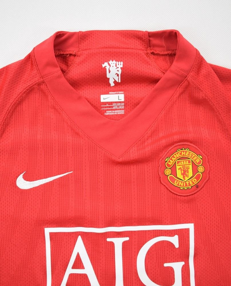 super popular dfdff e5bdc 2007-08 MANCHESTER UNITED *RONALDO* KIT L. BOYS