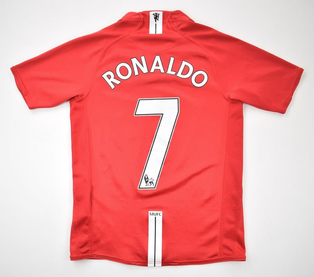 873c885ab7a 2007-08 MANCHESTER UNITED  RONALDO  KIT L. BOYS Football   Soccer   Premier  League   Manchester United