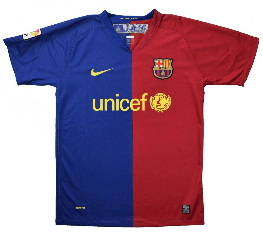 2008 09 Fc Barcelona Shirt L Football Soccer European Clubs Spanish Clubs Fc Barcelona Classic Shirts Com