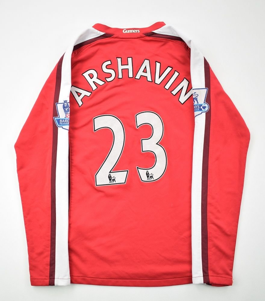the latest 60fee a6f01 2008-10 ARSENAL ARSHAVIN LONGSLEEVE SHIRT M. BOYS