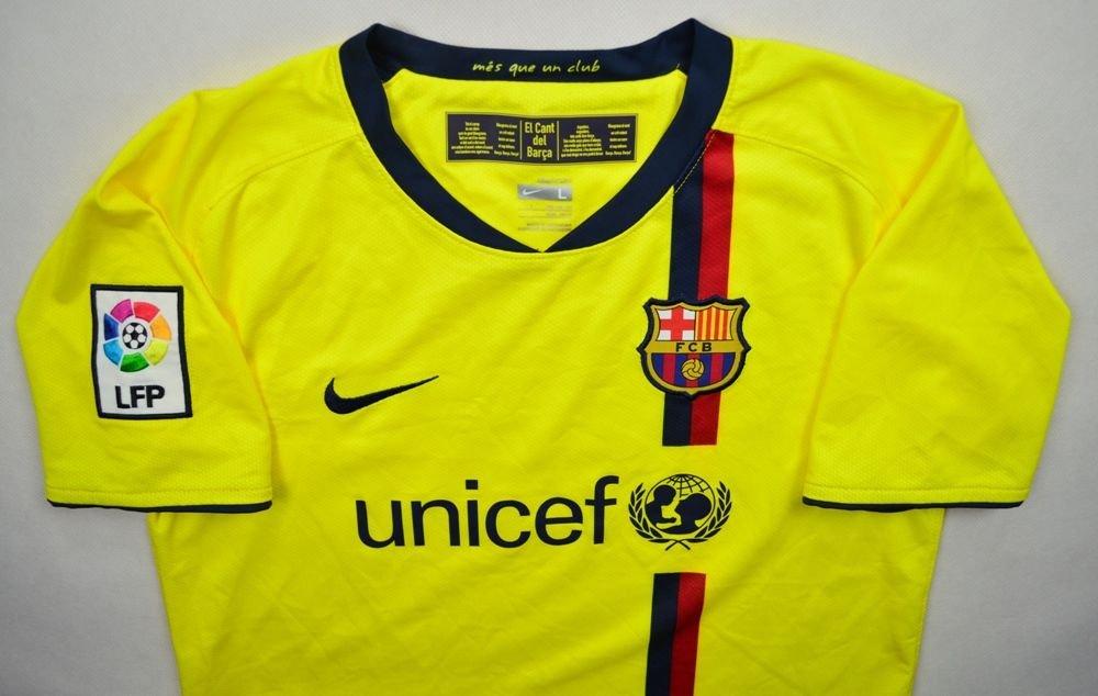 31f0ed02079 2008-10 FC BARCELONA SHIRT L. BOYS 152-158 CM Football   Soccer ...