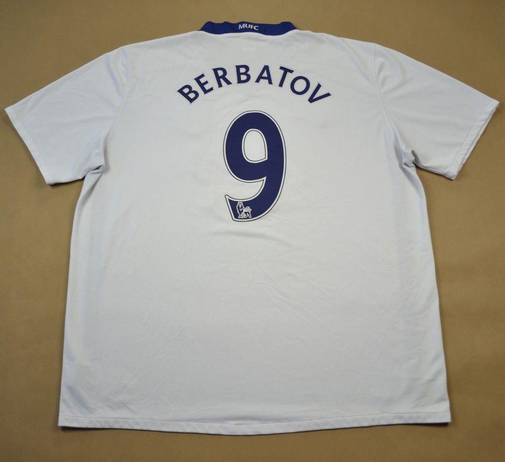 fbd816910 2008-10 MANCHESTER UNITED  BERBATOV  SHIRT XXL Football   Soccer   Premier  League   Manchester United