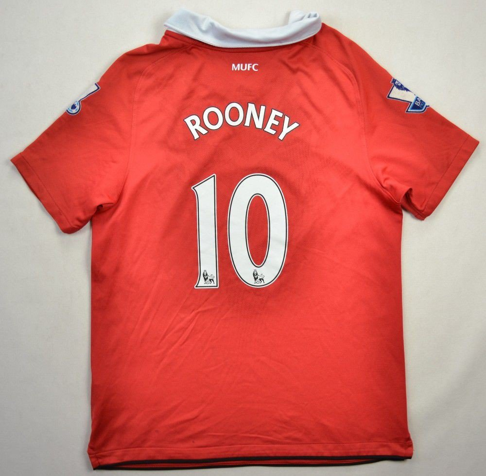 57edd3353b9 2010-11 MANCHESTER UNITED  ROONEY  SHIRT L BOYS Football   Soccer   Premier  League   Manchester United