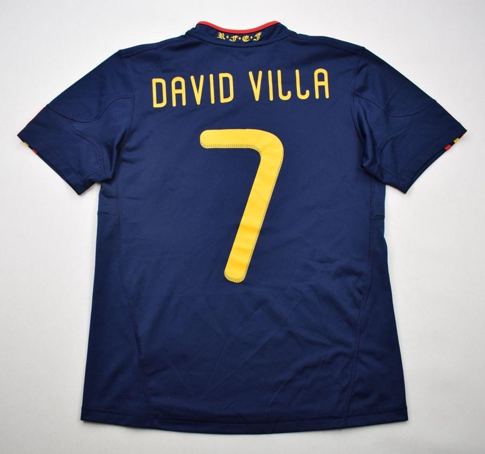 6e4a0907f80 2010-11 SPAIN DAVID *VILLA* SHIRT L. BOYS 164 CM Football / Soccer ...