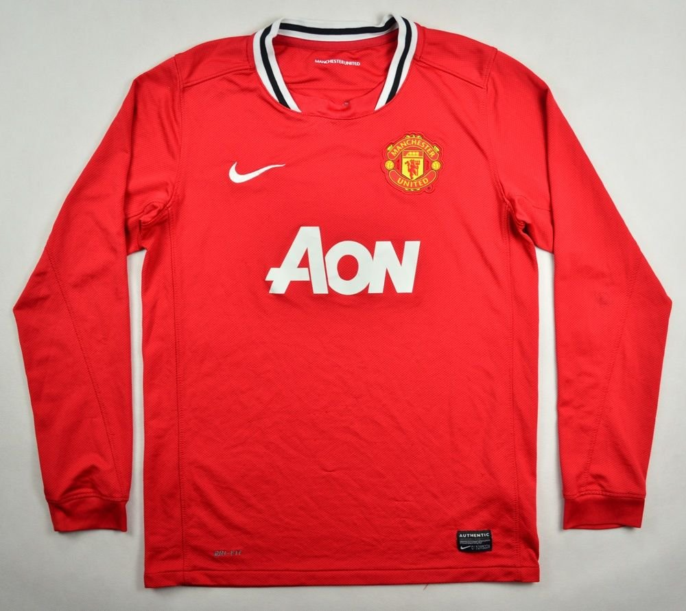 d7e136988 2011-12 MANCHESTER UNITED LONGSLEEVE SHIRT L. BOYS Football   Soccer ...