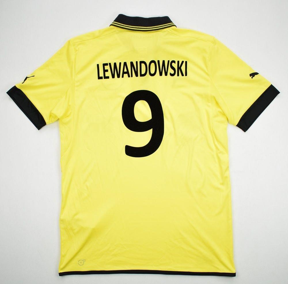 new product 2c6db 0b134 2012-13 BORUSSIA DORTMUND *LEWANDOWSKI* SHIRT M