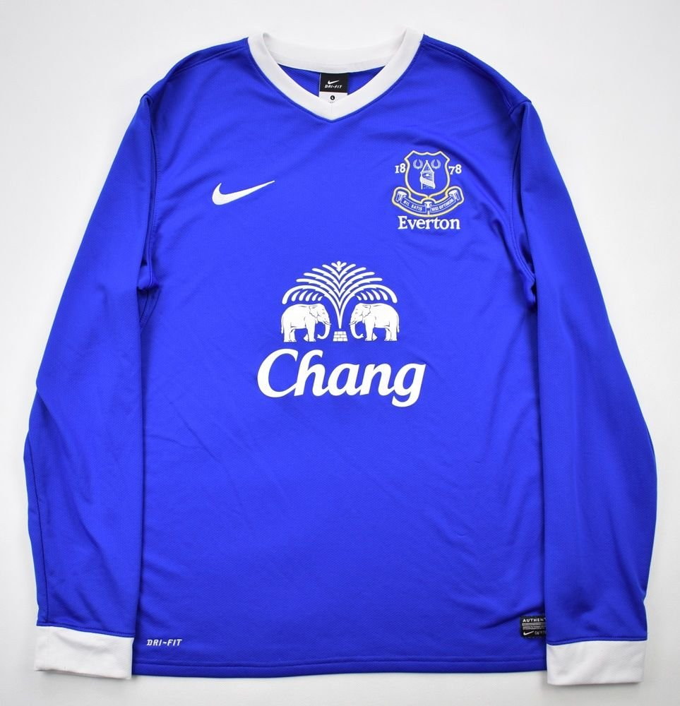low priced 5a1ad 81636 2012-13 EVERTON LONGSLEEVE SHIRT L