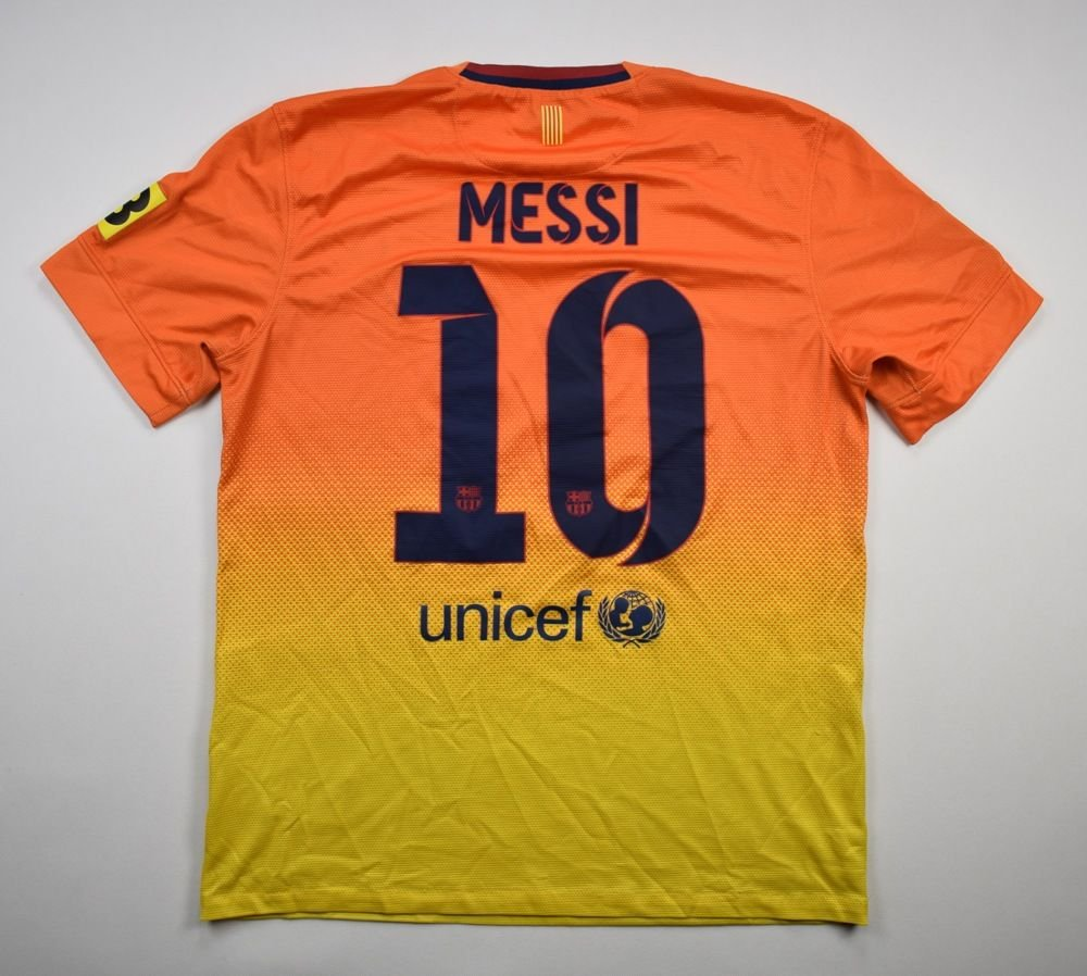 the latest 76043 50fc7 2012-13 FC BARCELONA *MESSI* SHIRT M