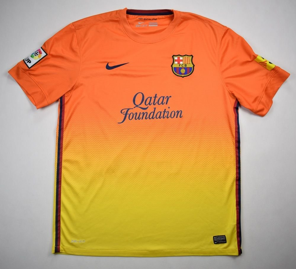 bea258e5ba7 2012-13 FC BARCELONA SHIRT L Football   Soccer   European Clubs ...