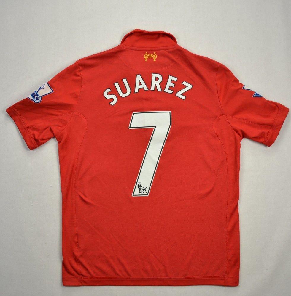 ae5fc2a3ee3 2012-13 LIVERPOOL  SUAREZ  SHIRT XL BOYS Football   Soccer   Premier League    Liverpool