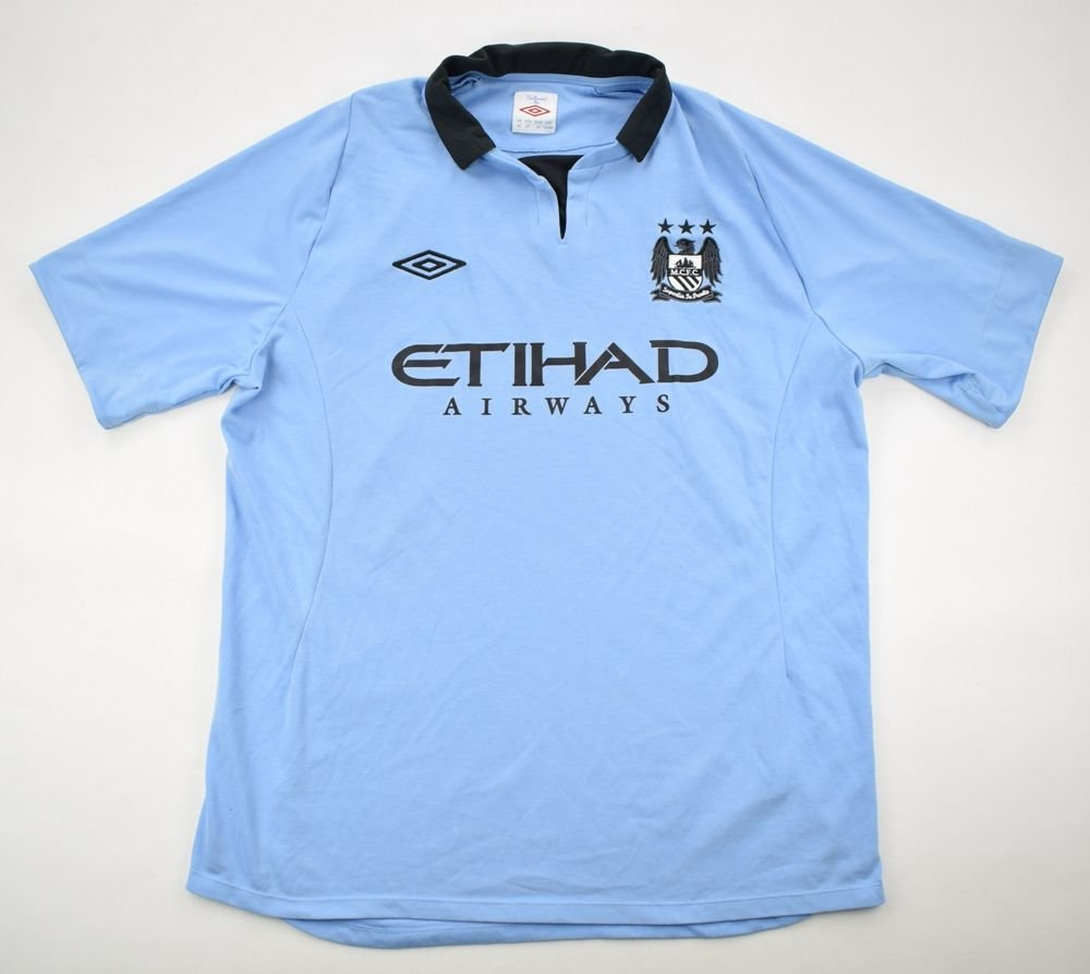 aa6f1af2fad 2012-13 MANCHESTER CITY SHIRT 46 Football / Soccer \ Premier League \  Manchester City | Classic-Shirts.com