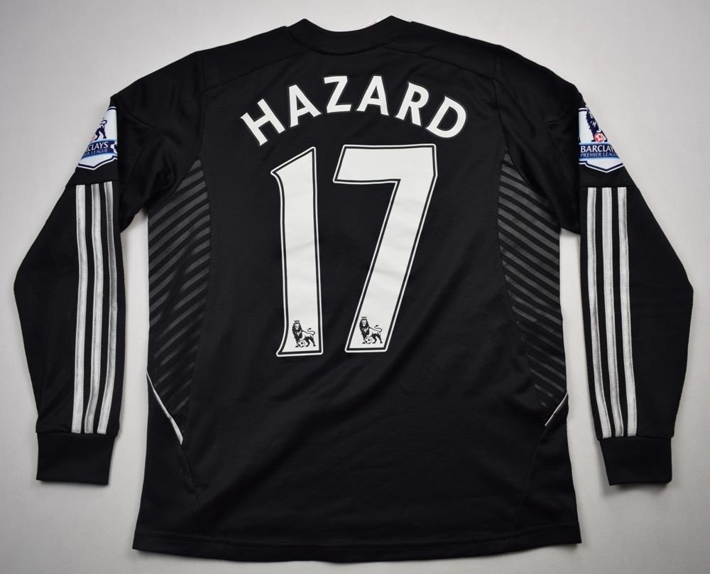 huge selection of 525ed 09db5 chelsea hazard long sleeve jersey