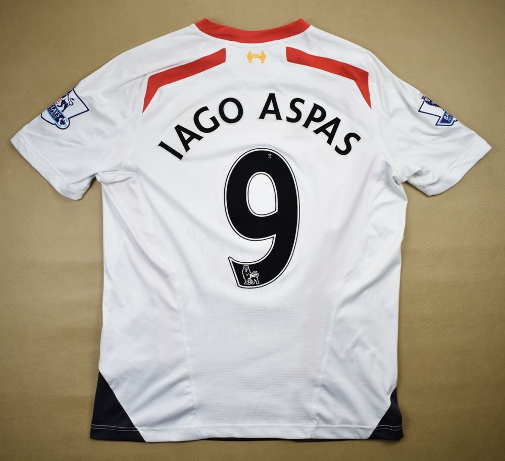 8fe72863f 2013-14 LIVERPOOL  IAGO ASPAS  SHIRT L Football   Soccer   Premier ...