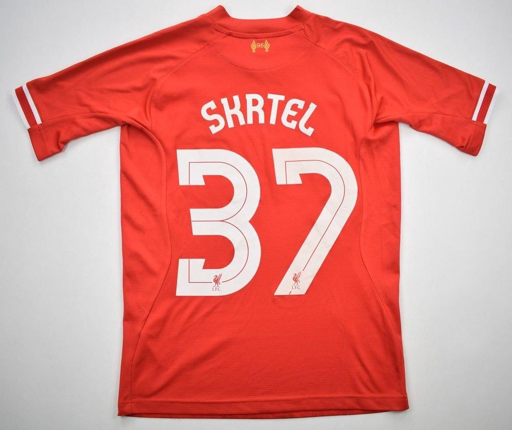 ed1616161 2013-14 LIVERPOOL  SKRTEL  SHIRT S Football   Soccer   Premier League    Liverpool