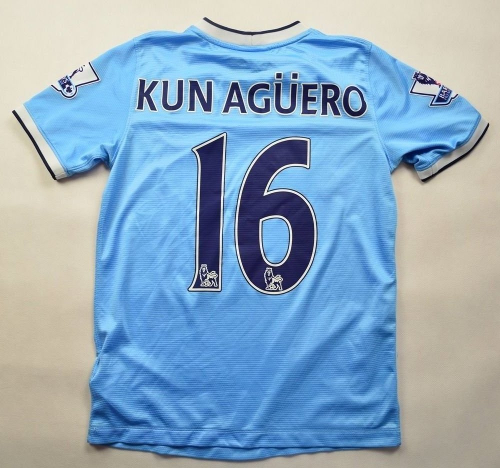 info for fe276 85bbd 2013-14 MANCHESTER CITY *KUN AGUERO* SHIRT L. BOYS 147-158 CM