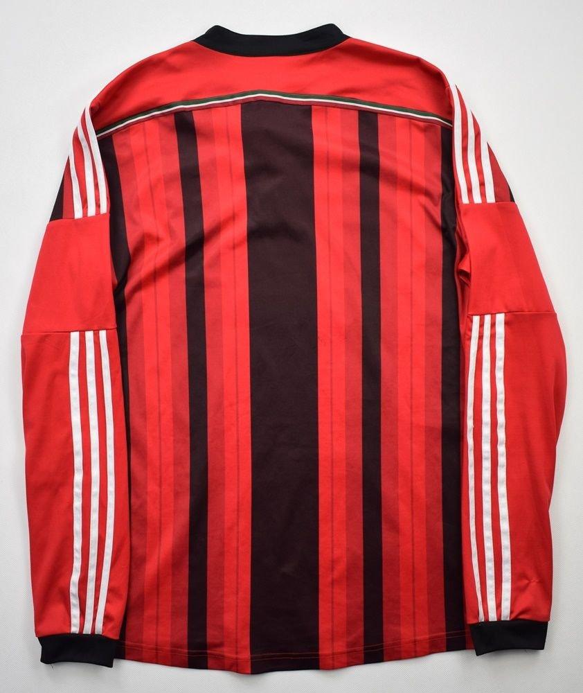 2014-15 AC MILAN LONGSLEEVE SHIRT S Football / Soccer ...