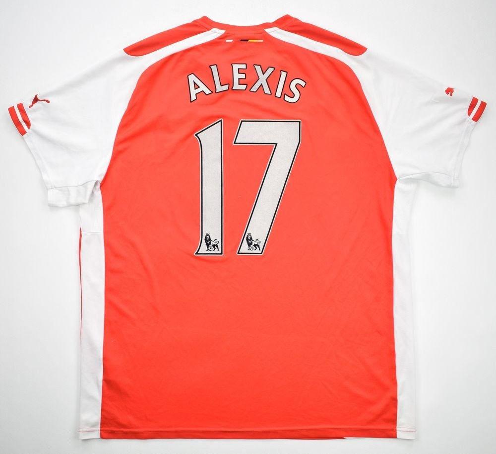 online store cfb9c 04477 2014-15 ARSENAL LONDON *ALEXIS* SHIRT XXL