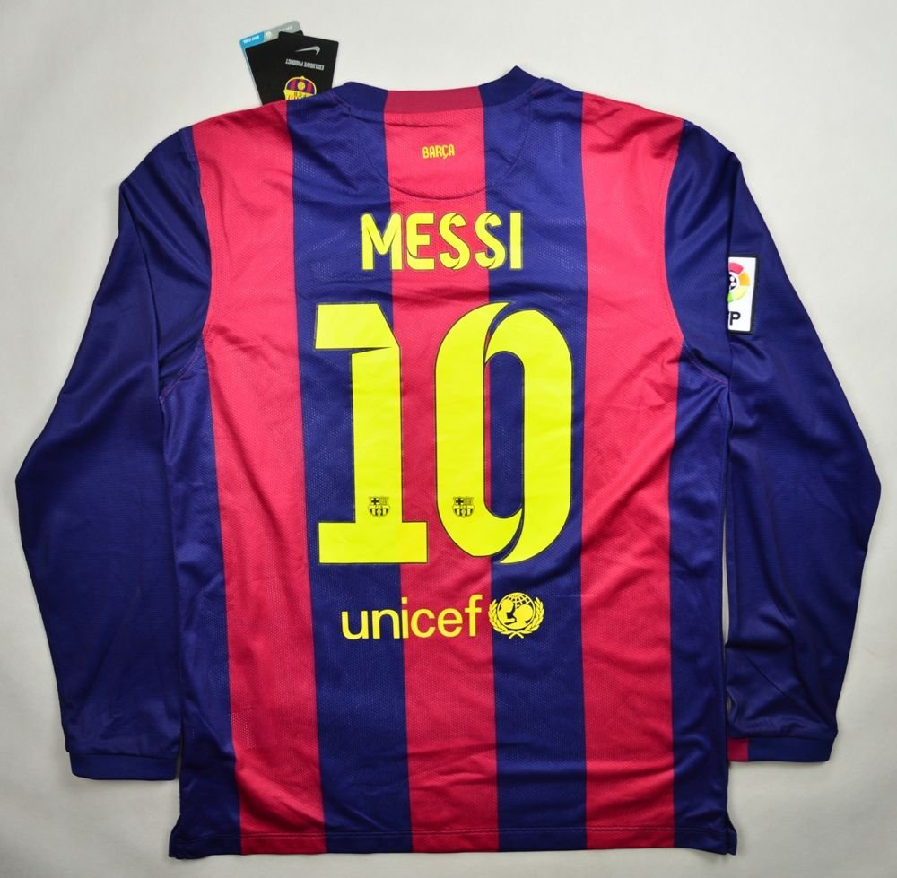 665a4bef0 2014-15 FC BARCELONA  MESSI  SHIRT XL Football   Soccer   European Clubs   Spanish  Clubs   FC Barcelona