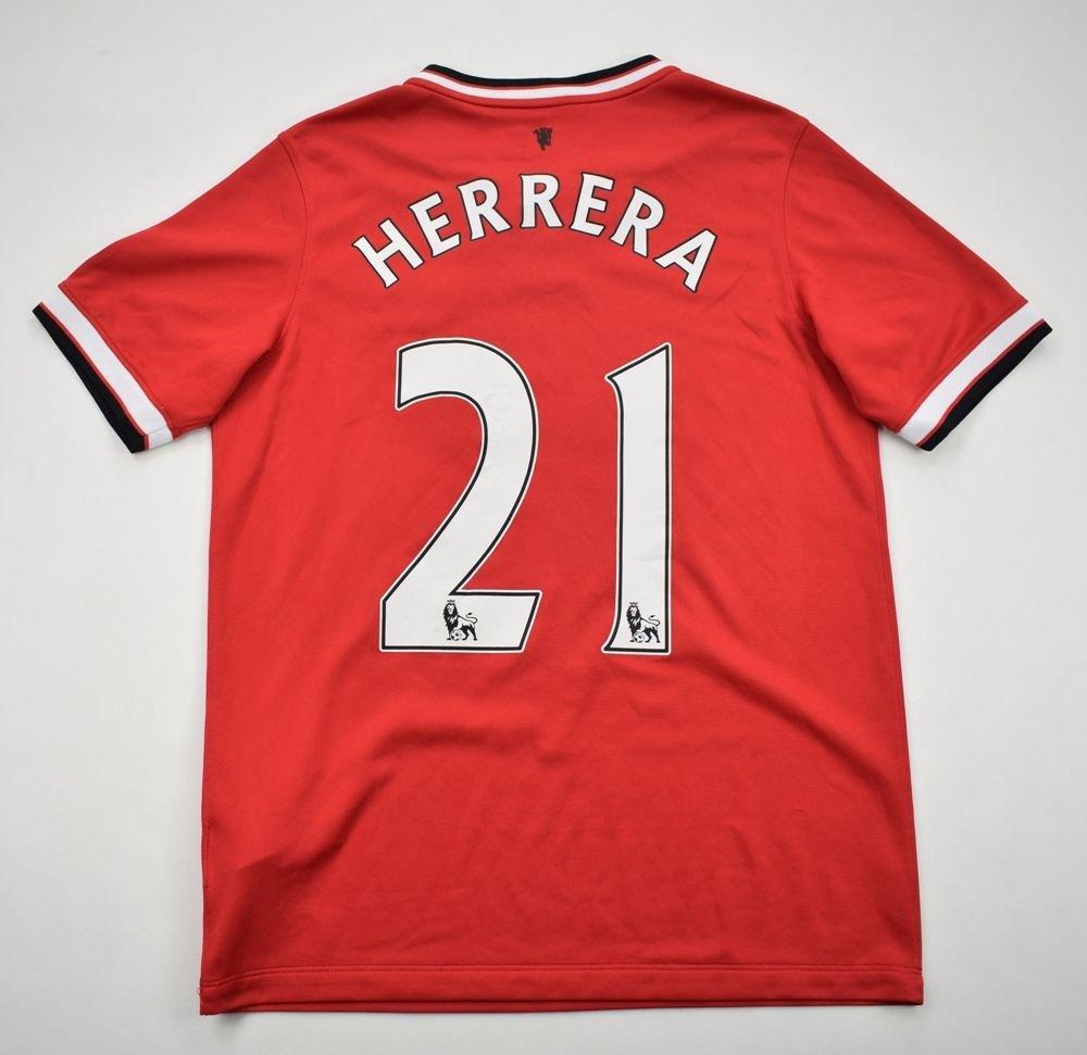 28d6278da 2014-15 MANCHESTER UNITED  HERRERA  SHIRT XL. BOYS Football   Soccer    Premier League   Manchester United