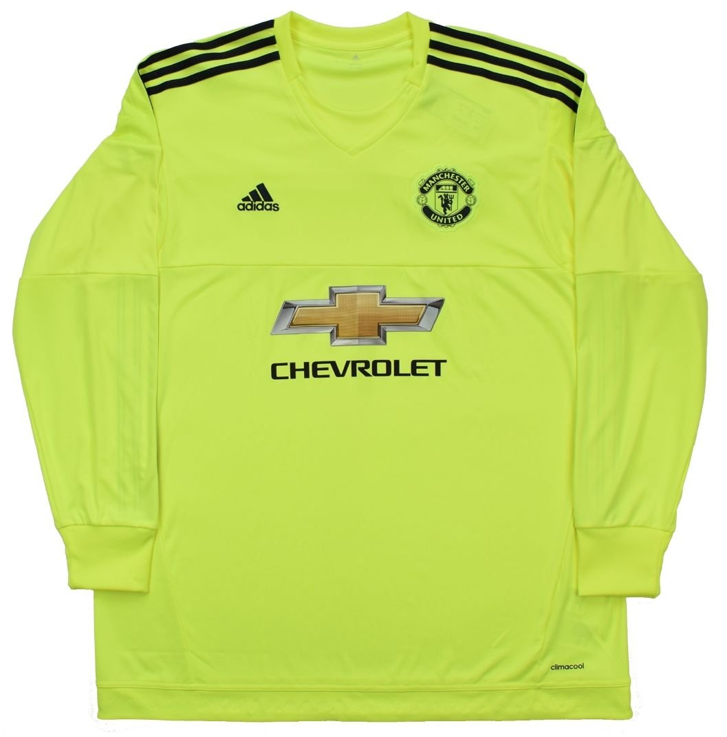 check out a29f3 11ad7 2015-16 MANCHESTER UNITED GK LONGSLEEVE SHIRT 2XL