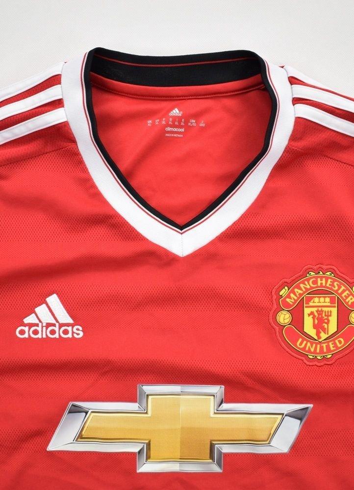 finest selection 253ee a518e 2015-16 MANCHESTER UNITED LONGSLEEVE SHIRT XL