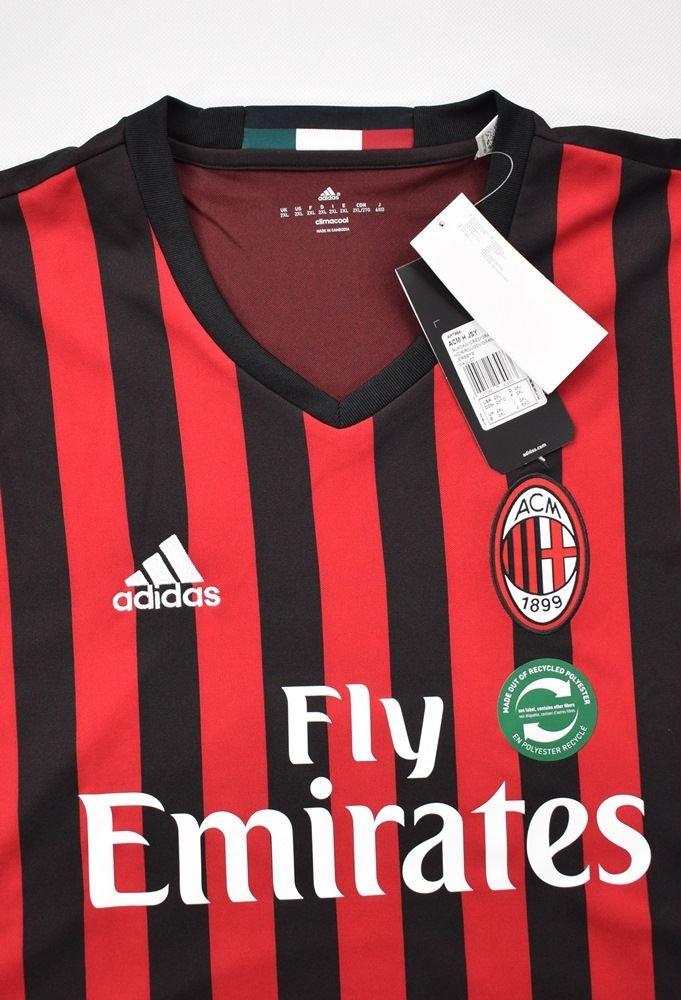 2016 17 Ac Milan Shirt 2xl Football Soccer European Clubs Italian Clubs Ac Milan Classic Shirts Com