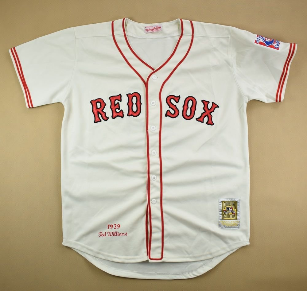 wholesale dealer 90d5c 9297e BOSTON RED SOX MLB MITCHELL & NESS SHIRT L