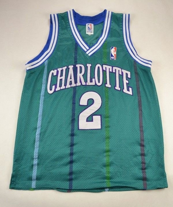 Charlotte Hornets Nba Johnson Spalding Shirt M Other Shirts Basketball Classic Shirts Com