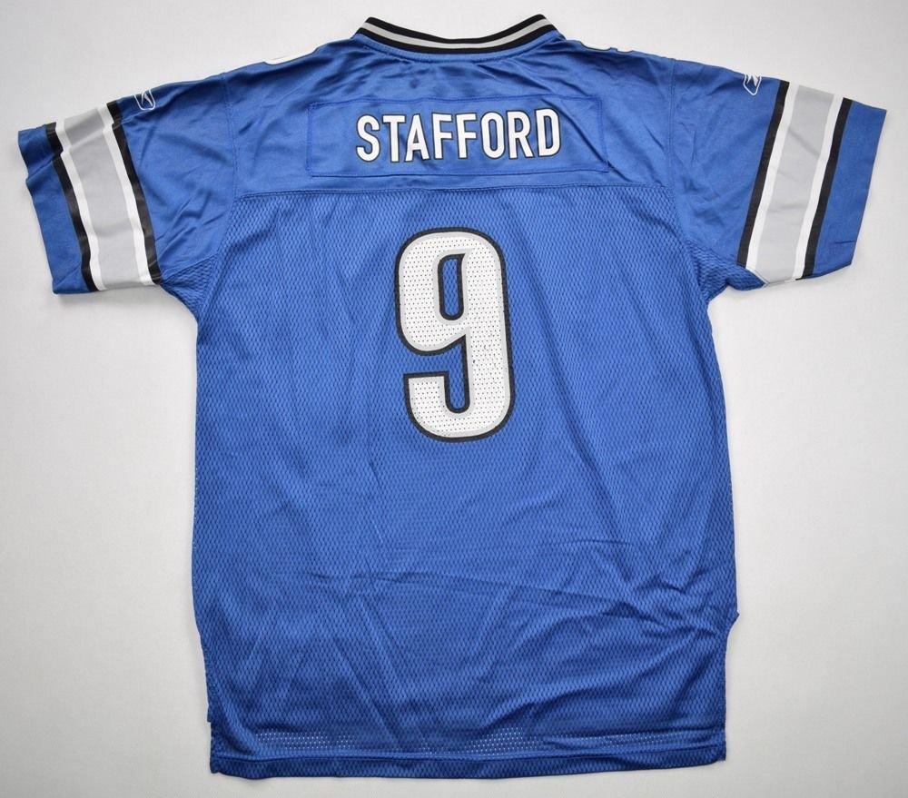 44246e89 DETROIT LIONS *STAFFORD* NFL REEBOK SHIRT XL. BOYS