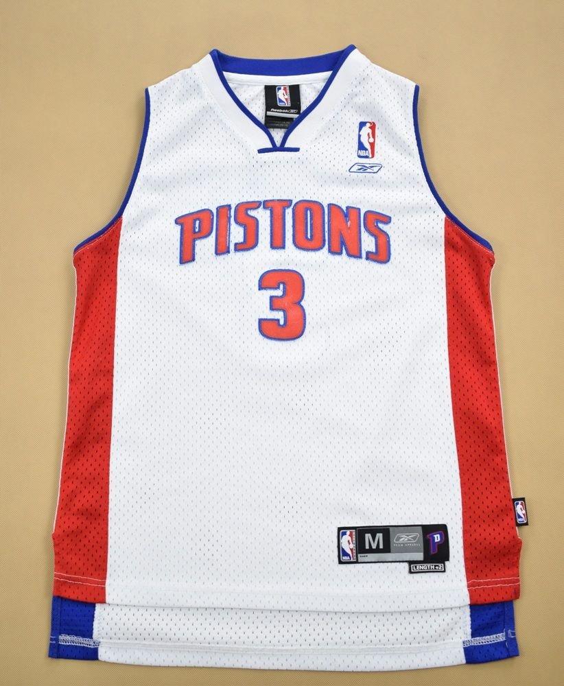 DETROIT PISTONS *WALLACE* NBA REEBOK SHIRT M. BOYS 10 12 YRS