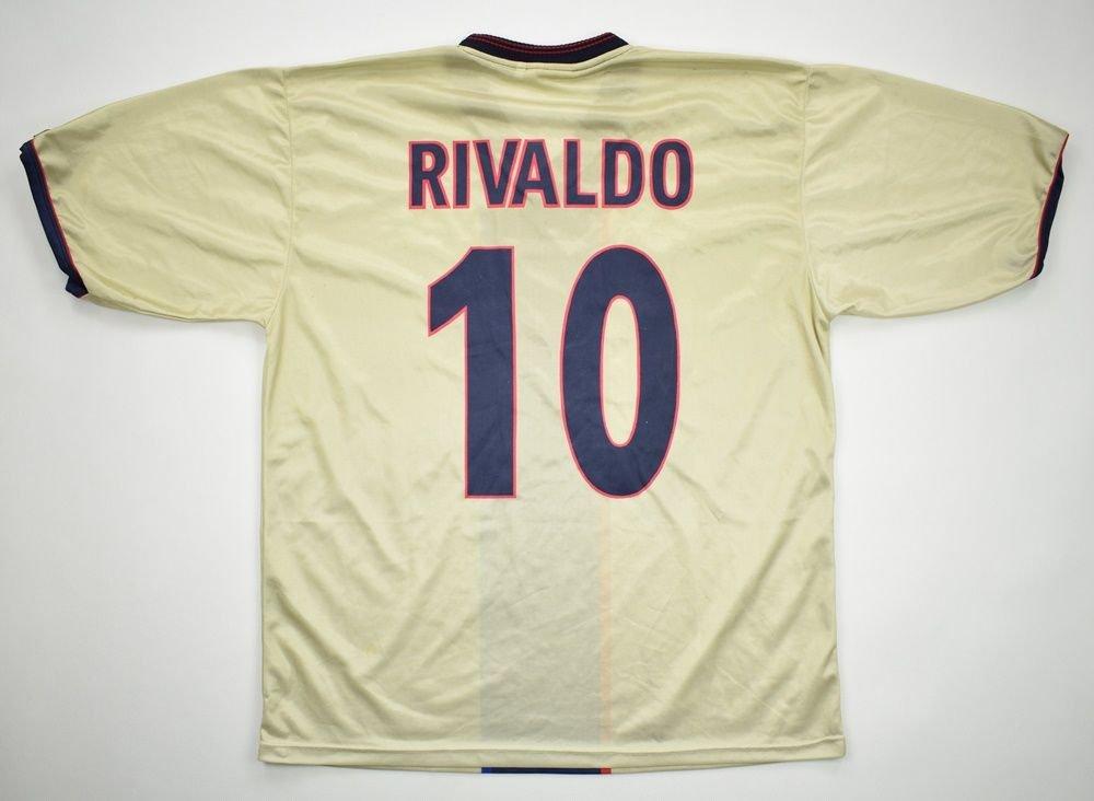 meet 73f98 3762e 2001-03 FC BARCELONA *RIVALDO* SHIRT L