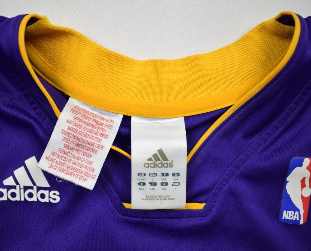 LOS ANGELES LAKERS NBA *Kobe Bryant* ADIDAS SHIRT L. BOYS ...