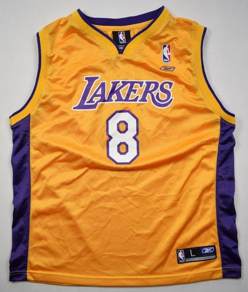 LOS ANGELES LAKERS NBA *Kobe Bryant* REEBOK SHIRT L. BOYS 14-16 YRS