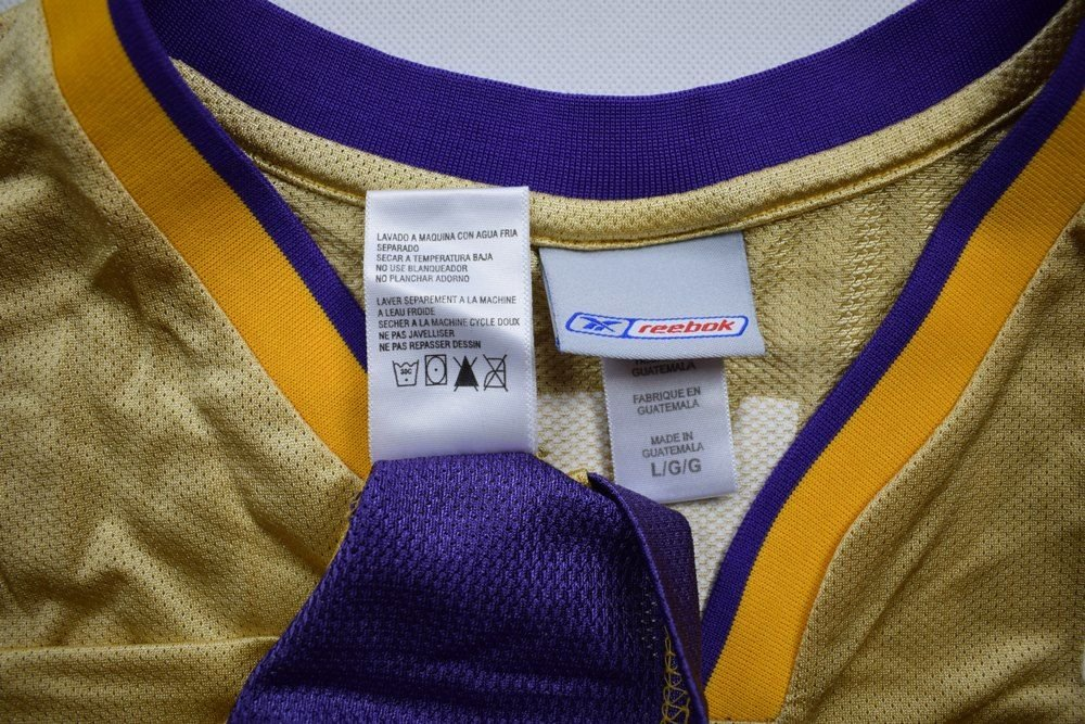 LOS ANGELES LAKERS NBA *O'NEAL* REEBOK SHIRT L