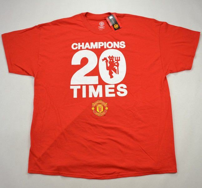 release date a045f 0204d MANCHESTER UNITED CHAMPIONS 20 TIMES T-SHIRT XXL